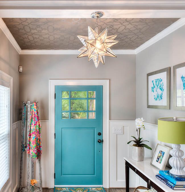 Featured on HOUZZ: 11 Ways Wallpaper Can Take Your Ceiling to the Next Level